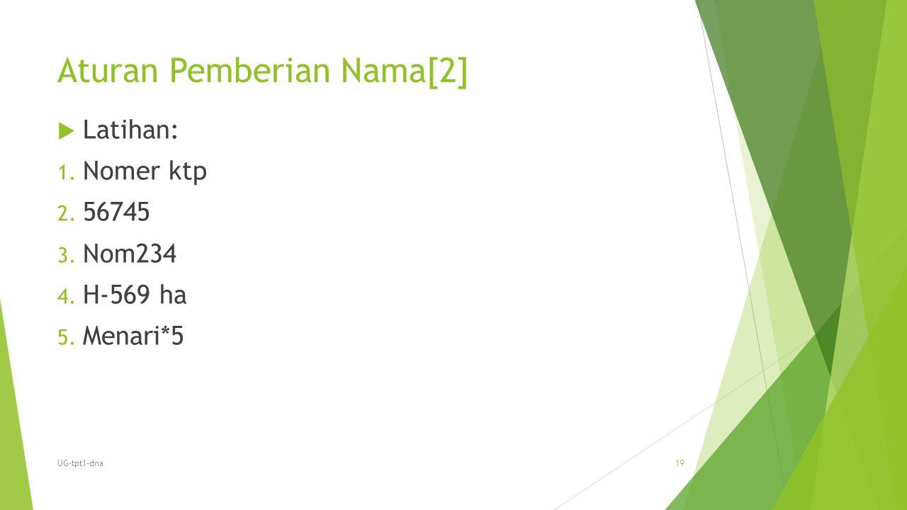 Aturan Pemberian Nama[2]